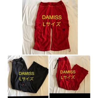 takako51様 DAMISS 赤黒 パンツ3本 Lサイズ フィットネスウエア(ヨガ)
