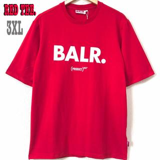 本物 新品 3XL ♪ BALR RED Tシャツ ボーラー 赤 ビッグサイズ(Tシャツ/カットソー(半袖/袖なし))