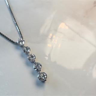 pt900/850 ダイヤモンド1.5ct ネックレス(ネックレス)