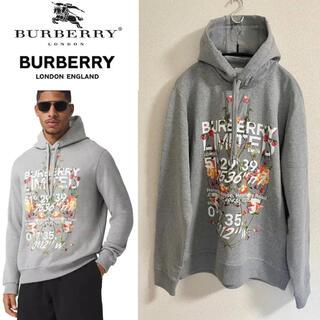 【EMS発送】☆Burberry☆ ロゴ パーカー グレー