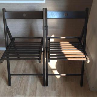 イケア(IKEA)のIKEA  折りたたみ 椅子 2脚(折り畳みイス)