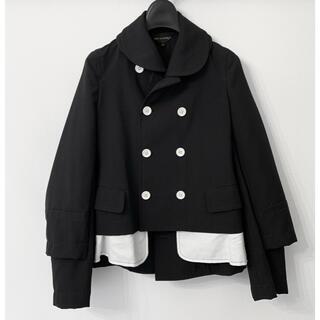 コムデギャルソン(COMME des GARCONS)のAD2007 コムデギャルソン レイヤード デザインジャケット ピーコート(ピーコート)