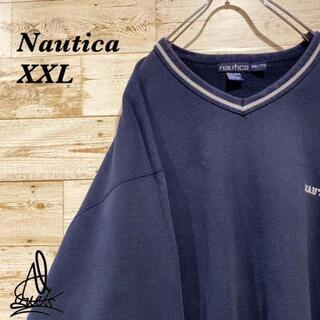 ノーティカ(NAUTICA)の《超ビックサイズ》Nautica ノーティカ スウェット XXL☆ネイビー 紺色(スウェット)