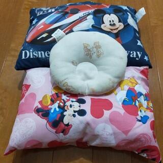 ディズニー(Disney)のミッキーとミニーのキッズ枕3点セット(枕)