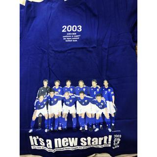 アディダス(adidas)の2003年 KIRIN adidas サッカー日本代表 勝ちT Lサイズ 未使用(記念品/関連グッズ)