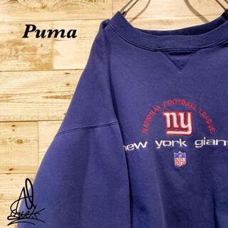 プーマ(PUMA)の《デカロゴ》PUMA プーマ スウェット L☆ネイビー 紺色 チームロゴ 刺繍(スウェット)