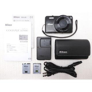 Nikon - 【美品】Nikon COOLPIX S7000 ブラック