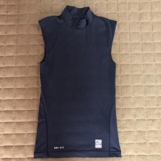 ナイキ(NIKE)のNIKE ドライフィット スポーツ用インナーシャツ Sサイズ  ネイビー(ウェア)