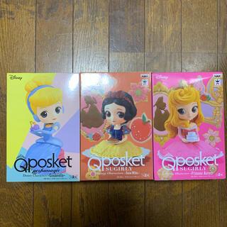 ディズニー(Disney)のQposket  ディズニープリンセス  シンデレラ 白雪姫 オーロラ姫 セット(アニメ/ゲーム)