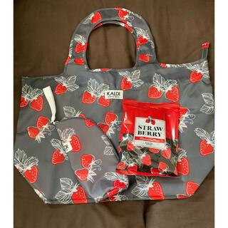 カルディ(KALDI)の【新品】KALDI いちごバッグ&ボトルケース&マシュマロ(トートバッグ)