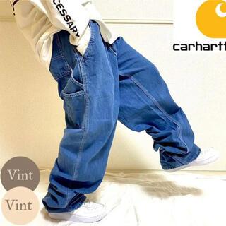 carhartt - 【ニカラグア製】カーハート デニム ペインターパンツ ワイドバギー 革タグ