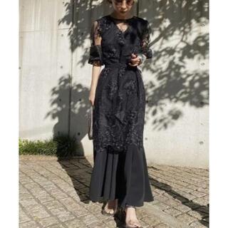 アメリヴィンテージ(Ameri VINTAGE)のAMERI VINTAGE 3WAY LAYERED LACE DRESS(ロングドレス)
