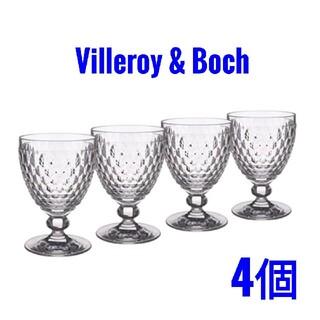 ビレロイ&ボッホ - Villeroy & Boch レッドワイングラス クリア 4個セット