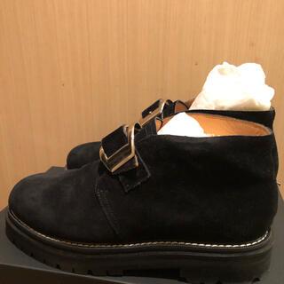 マルタンマルジェラ(Maison Martin Margiela)の定価7.5万 SOE★20aw スウェード ワンバックル ブーツ(ブーツ)