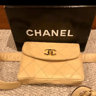シャネル(CHANEL)の美品  Chanelマトラッセベルトポーチ ヴィンテージ(ウエストポーチ)