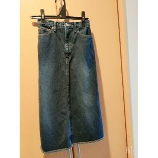 ブルーウェイ(BLUE WAY)のデニムスカート(ひざ丈スカート)