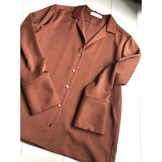 アナディス(d'un a' dix)の6日発送【d'un a' dix】オープンカラーシャツ(シャツ/ブラウス(長袖/七分))