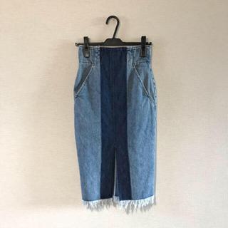 マメ(mame)の★週末限定値下げ中【mame】denim skirt(ロングスカート)