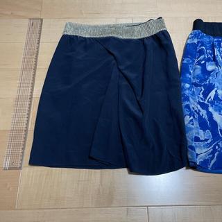 トゥモローランド(TOMORROWLAND)のシルク素材のスカートとキュプラのスカートの2枚セット(ミニスカート)