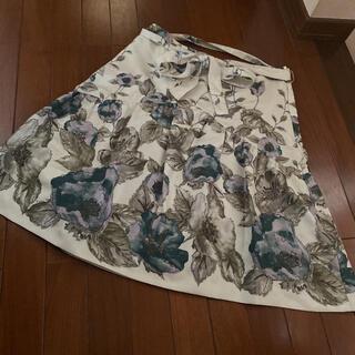 コフィコレクト花柄スカート(ひざ丈スカート)