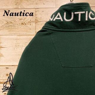 ノーティカ(NAUTICA)の《大人気カラー》Nautica ノーティカ ハーフジップ XL☆グリーン 緑(スウェット)
