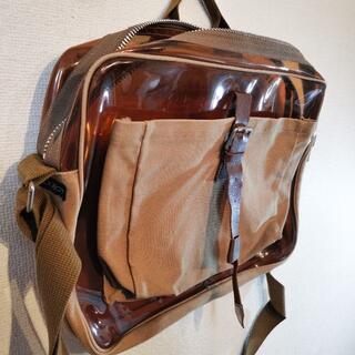 ミルクボーイ(MILKBOY)のミルクボーイmilkboyスケルトン透明メッセンジャーバッグ茶ショルダーバッグ(ショルダーバッグ)