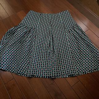 ビアッジョブルー(VIAGGIO BLU)のビアッジョブルー 幾何学模様スカート(ひざ丈スカート)