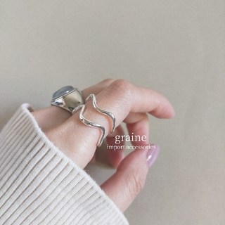 【NEW】wave double ring *