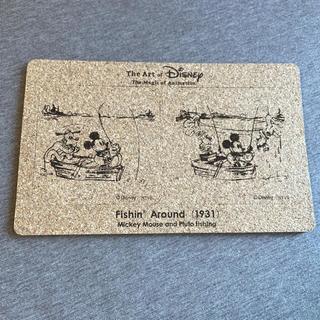 ディズニー(Disney)のディズニーアート展 コースター コルク 限定(テーブル用品)