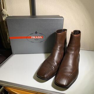 プラダ(PRADA)の美品 PRADA プラダ ドレスシューズ   ブーツ ジップアップ サイズ7(ブーツ)