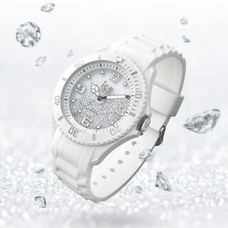 アイスウォッチ(ice watch)のアイスウォッチ 限定モデル アイススイス ICEswiss スワロフスキー 白(腕時計)