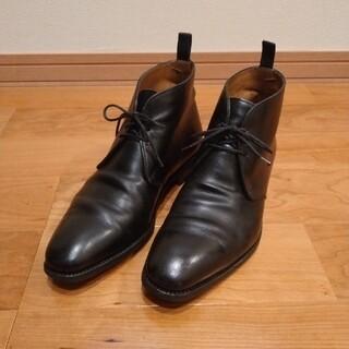 Crockett&Jones - トレーディングポスト レザー チャッカブーツ 6 ブラック 黒 カルミナ