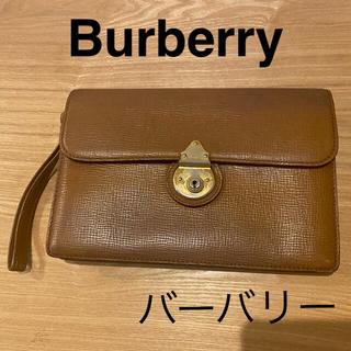 バーバリー(BURBERRY)のバーバリー Burberry レザー クラッチバック(クラッチバッグ)