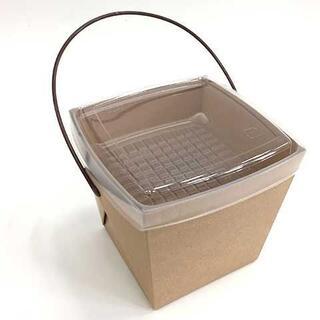(新品未開封)デリメイト お洒落ランチボックス クラフト 1ケース:240個(容器)