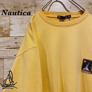 ノーティカ(NAUTICA)の《セーリング》Nautica ノーティカ スウェット L☆イエロー 黄色 刺繍(スウェット)