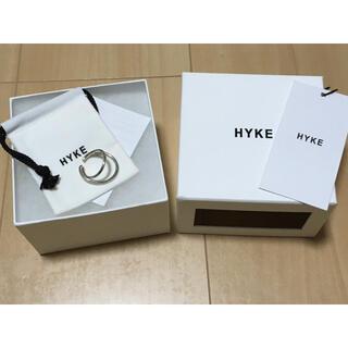ハイク(HYKE)のHYKE ハイク シルバー イヤーカフ DOUBLE EAR CUFF(イヤーカフ)