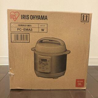 アイリスオーヤマ - アイリスオーヤマ IRIS OHYAMA 電気圧力鍋3.0L PC-FMA3-W