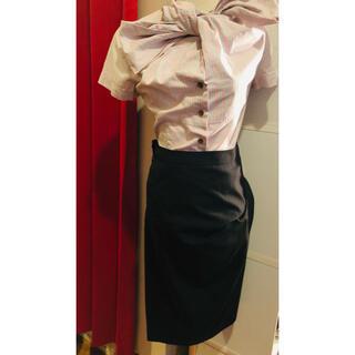 ヴィヴィアンウエストウッド(Vivienne Westwood)の限定セール!ヴィヴィアン変型ストライプロングスカート黒M位入学式会社二階堂林檎(ロングスカート)