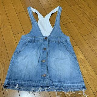 GU - GU デニム ジャンパースカート サロペット