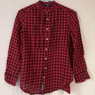 ポロラルフローレン(POLO RALPH LAUREN)のポロラルフローレン 長袖シャツ 赤×黒(ブラウス)