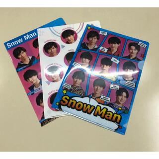 ジャニーズ(Johnny's)のSnow Man ミニクリアファイル 計3枚(アイドルグッズ)
