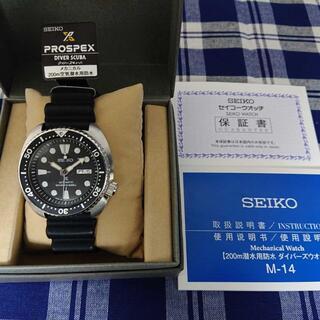 セイコー(SEIKO)の美品 セイコー ダイバーズ プロスペックス ブラックタートル SBDY015 (腕時計(アナログ))