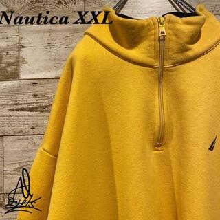 ノーティカ(NAUTICA)の《XXL》Nautica ノーティカ ハーフジップ スウェット☆イエロー 黄色(スウェット)