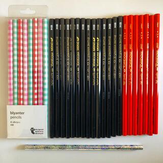トンボエンピツ(トンボ鉛筆)の鉛筆30本 トンボ赤鉛筆 トンボHB鉛筆 ドラえもん鉛筆フライングタイガー鉛筆(鉛筆)