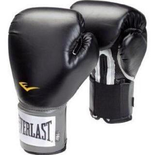 エバーラスト(EVERLAST)の新品 送無 Everlast 練習用ボクシンググローブ16ozブラック(ボクシング)