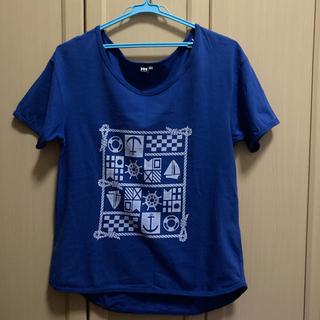 ヘリーハンセン(HELLY HANSEN)のヘリーハンセン Tシャツ レディスL ブルー マリン(Tシャツ(半袖/袖なし))