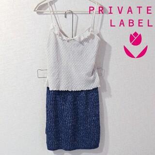 プライベートレーベル(PRIVATE LABEL)の美品 プライベートレーベル セクシー ミニスカート タイトスカート ラメ(ミニスカート)