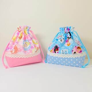 ®️o©️o様【2点セット】ディズニープリンセス・アナ雪★弁当袋(名前入り!!)(外出用品)