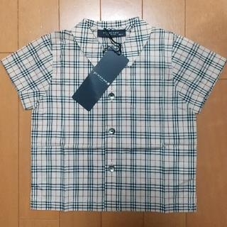 バーバリー(BURBERRY)のBURBERRY 襟付き半袖シャツ ベビー80cm(シャツ/カットソー)