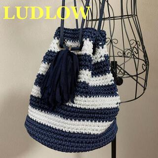 ラドロー(LUDLOW)のLUDLOW ラドロー ユナイテッドアローズ ボーダータッセルポシェット 巾着(ショルダーバッグ)